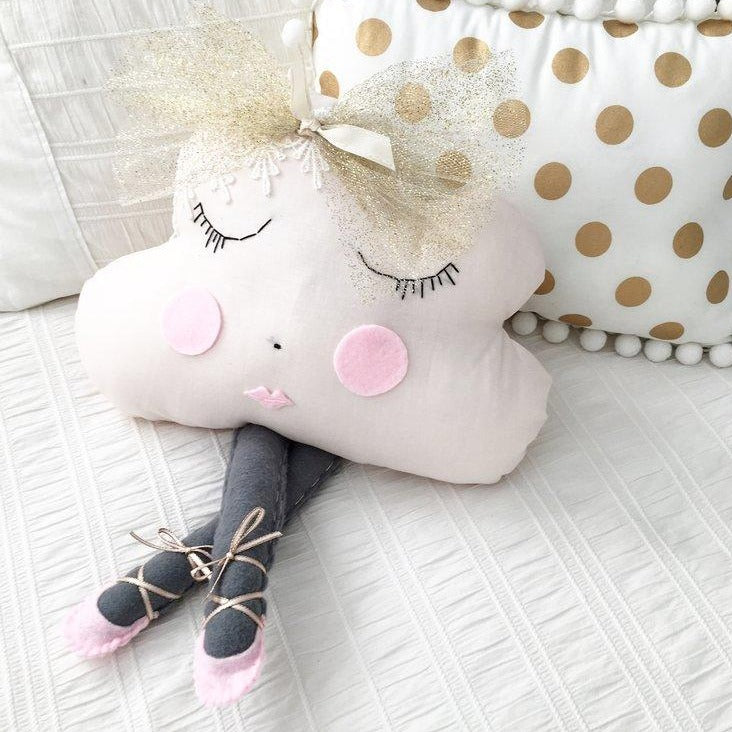 Ballerina Cloud Pillow - Miss Ava (4 WEEKS TURNAROUND TIME)