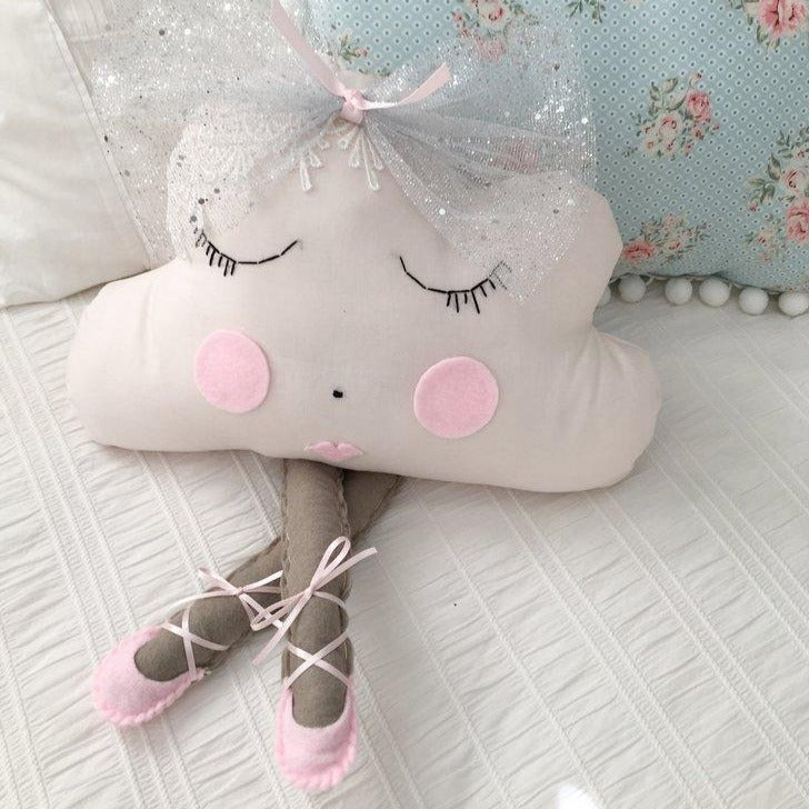 Ballerina Cloud Pillow - Miss Scarlett (4 WEEKS TURNAROUND TIME)