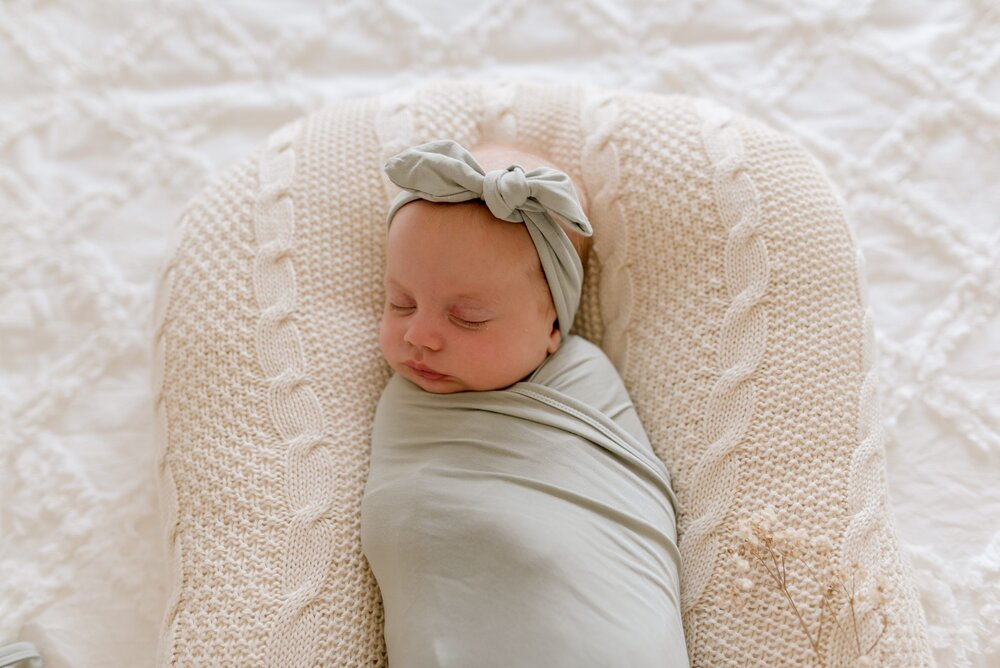Bamboo Jersey or Muslin Wrap - Soft Sage (plus accessories)
