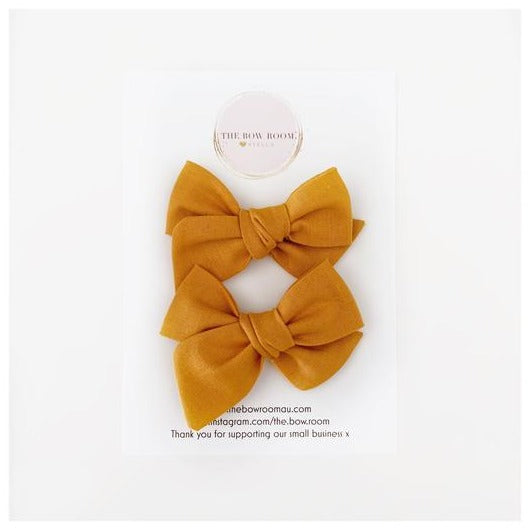 Madison Piggy Tail Set - Mustard