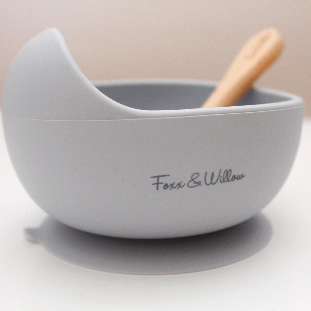 Silicone Feeding Bowl & Spoon - Cloud