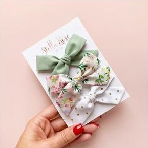 Madison Bow Headband - Birdie