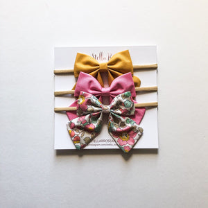 Stella Headband Bow Set - Posie
