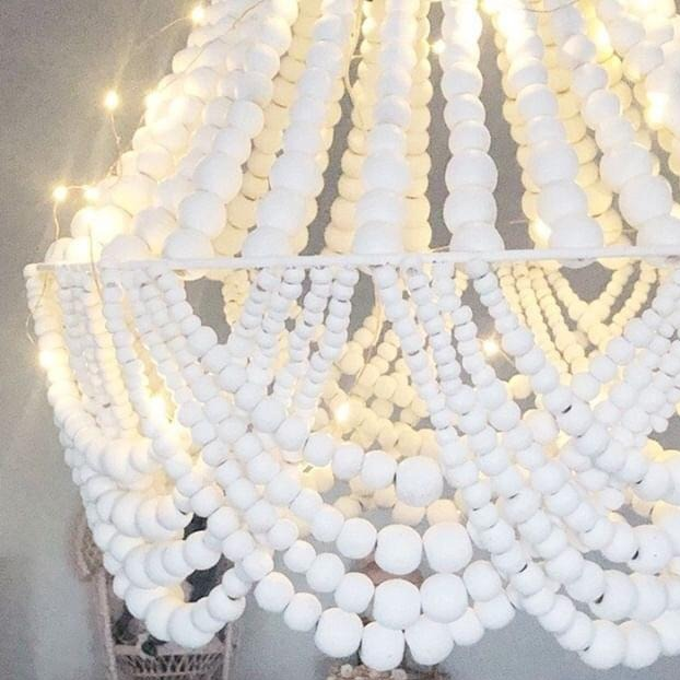 Beaded Chandelier Light - Elise - MINI (2 WEEK TURNAROUND)