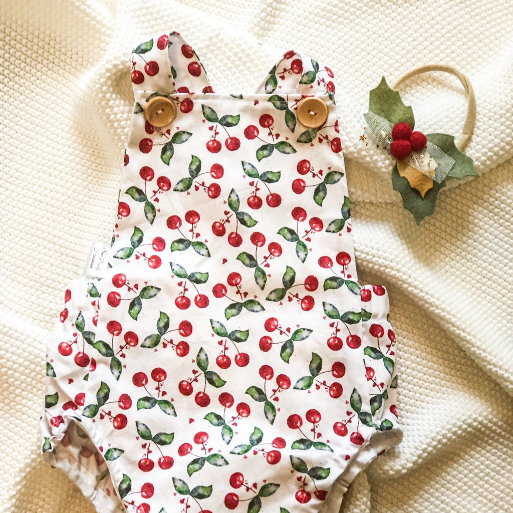 Christmas Romper - Christmas Cherries