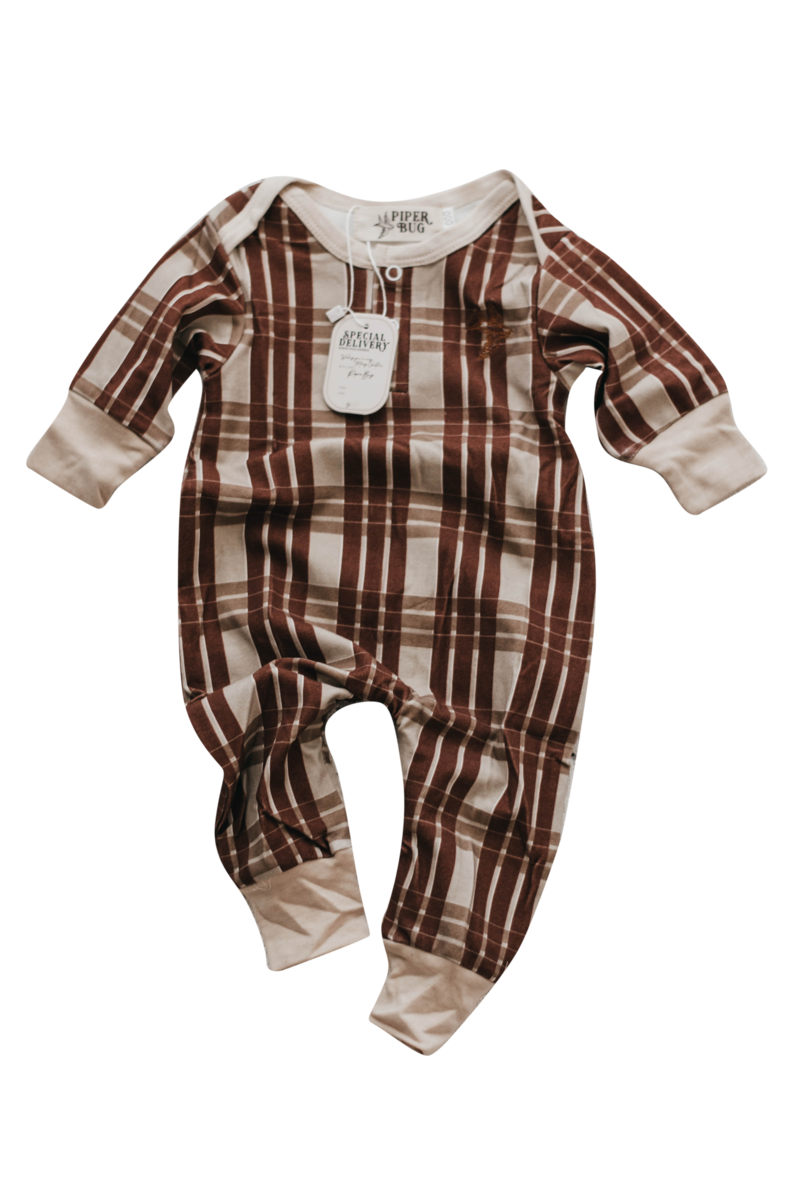 Christmas 2020 - Eggnog Gingham Winter Romper