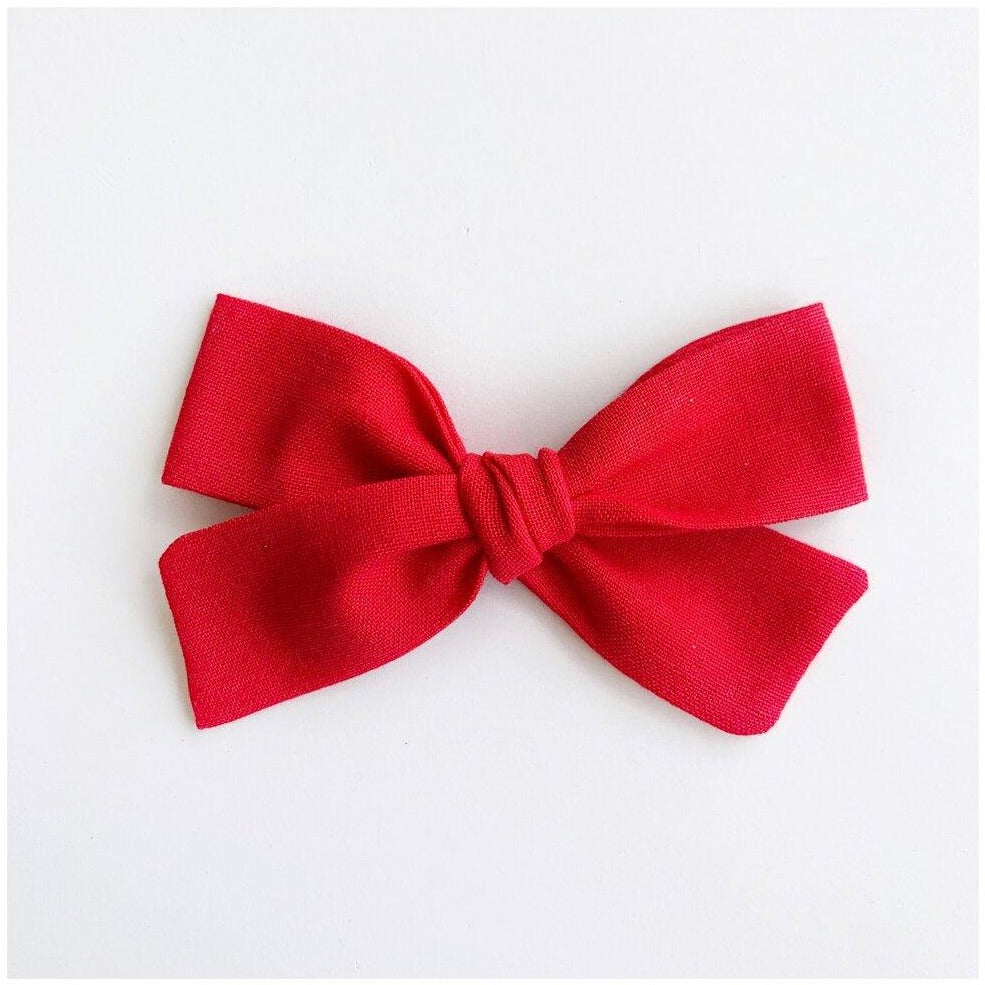 School Girl Bow Headband Red