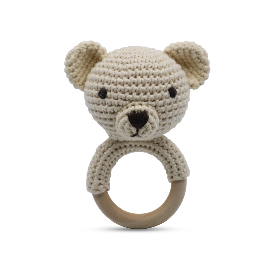 Ring Rattle - Teddy