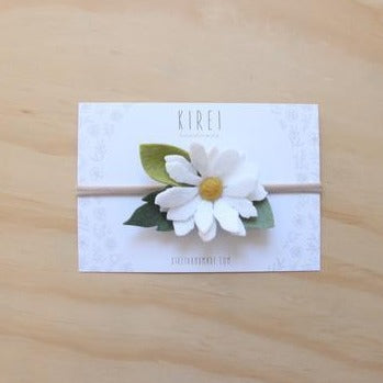 Felt Daisy Headband - White