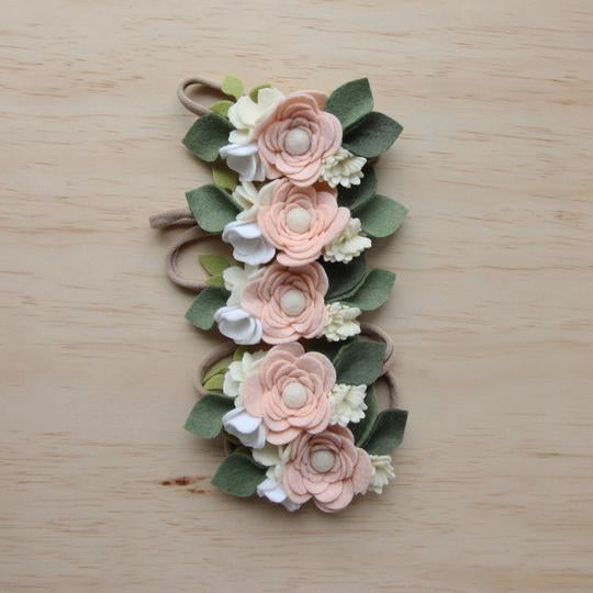 Felt Posy Headband - Elderflower