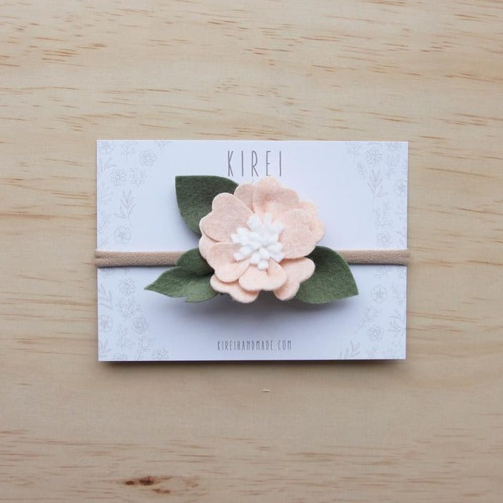Felt Kirei Bloom Headband - Neutral Pink