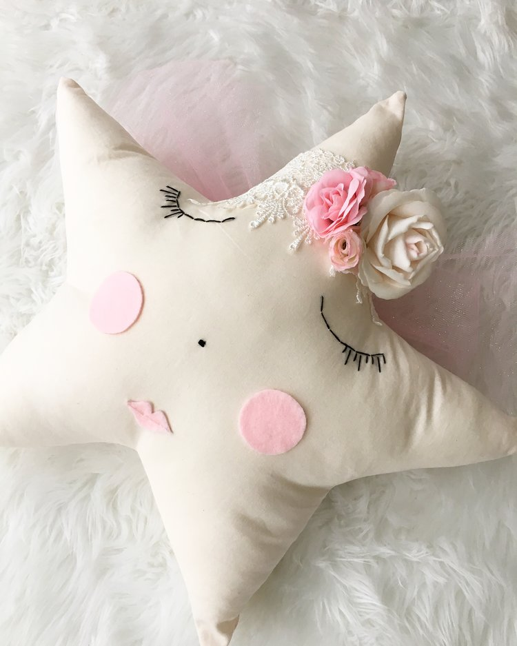 Star Floral Angel Pillow - (4 WEEKS TURNAROUND TIME)