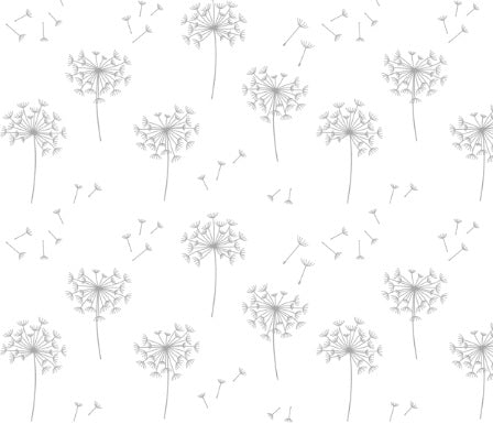 Custom Fabric - Grey Dandelions