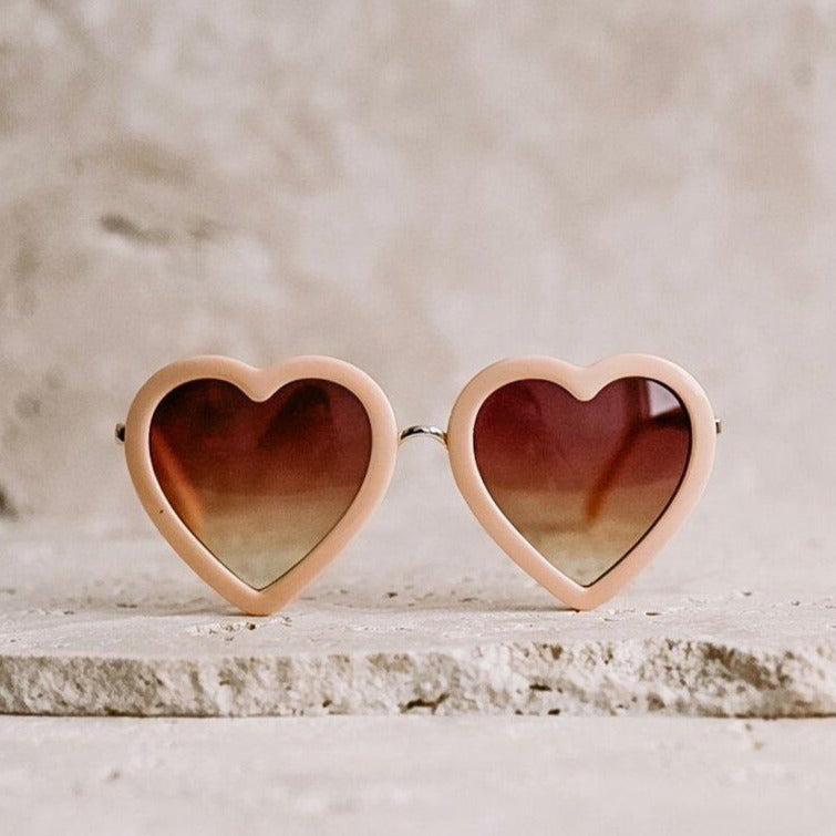 Heart Sunglasses - Peach