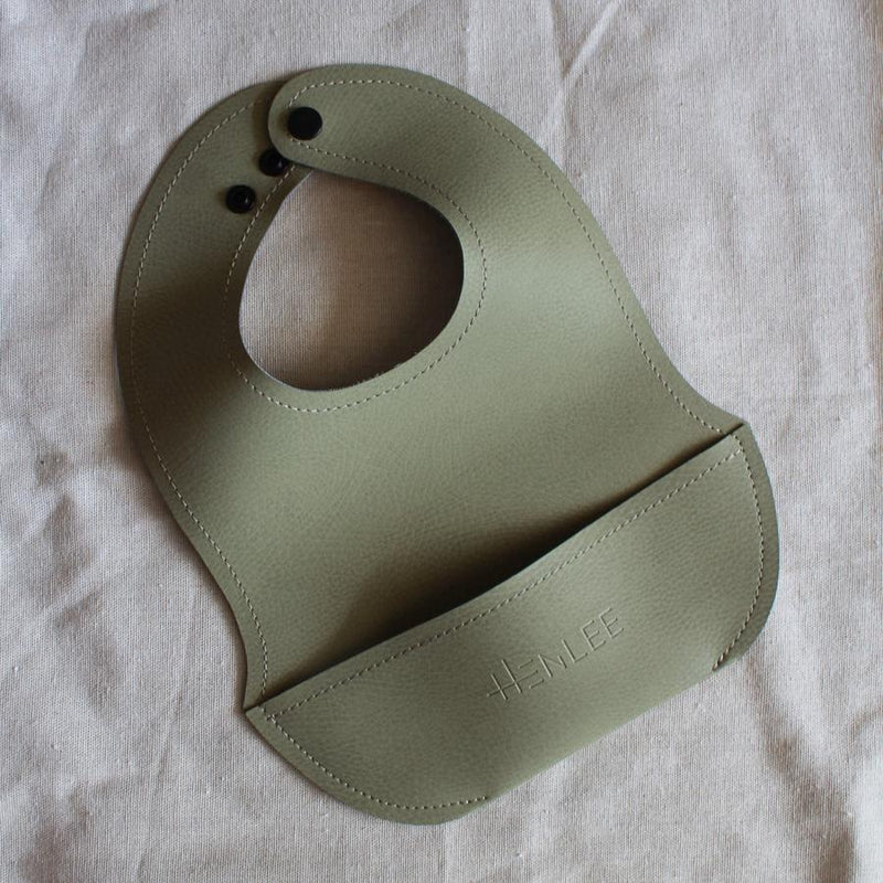 Vegan Leather Bib - Sage