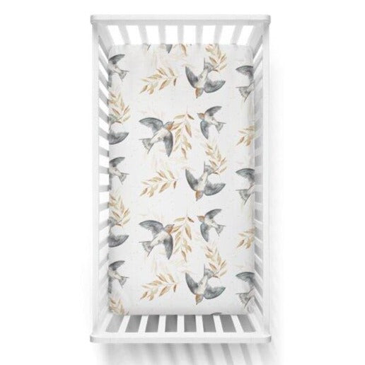 Nursery Linen Cot Sheet - Shelley