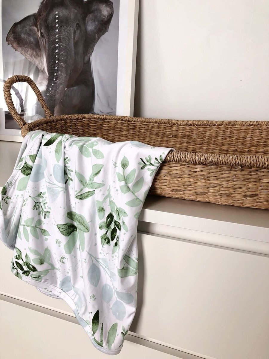 Bamboo Jersey or Muslin Wrap - Evergreen (plus accessories)