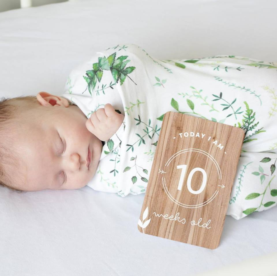 Baby Milestone Cards - Wood