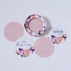 Reversible Milestone Cards - Blushing Beauty & Musk Pink