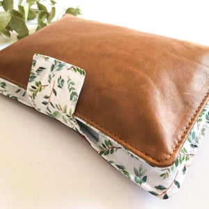 Deluxe Leather Nappy Wallet - Leafy Vines