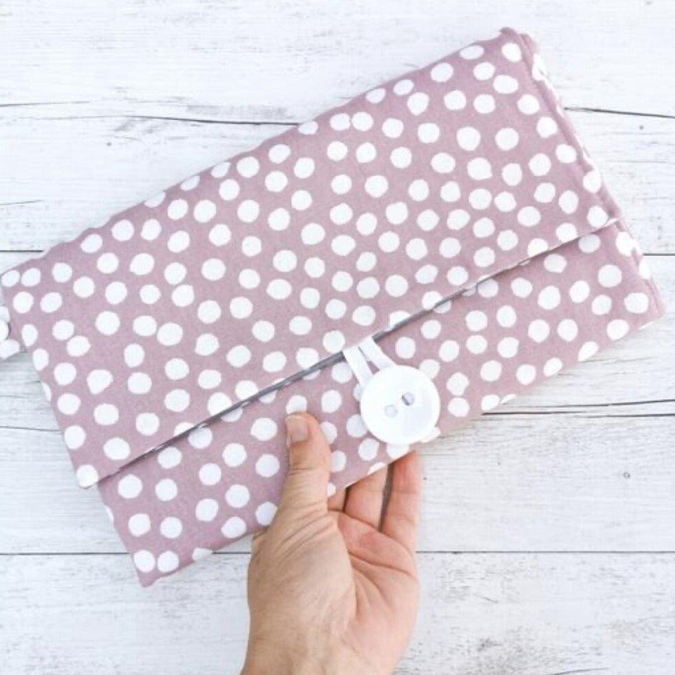 Nappy Wallet with Mat - Blush Spots