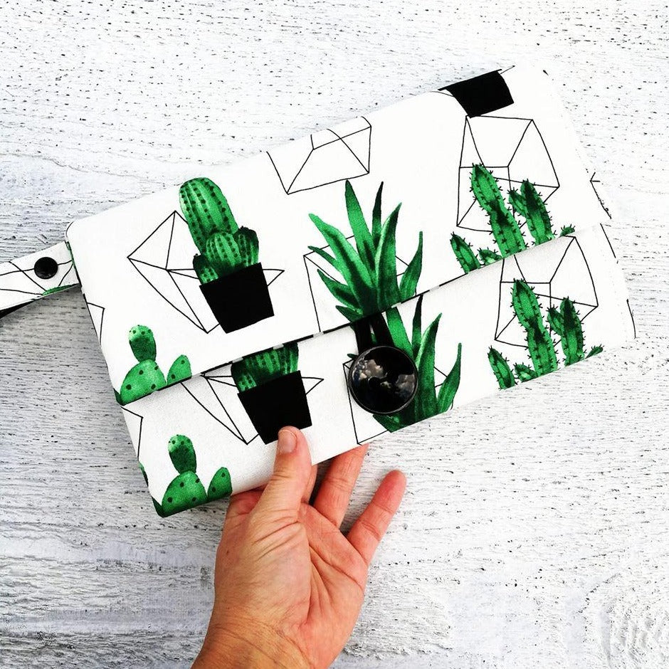 Nappy Wallet with Mat - Geo Cactus