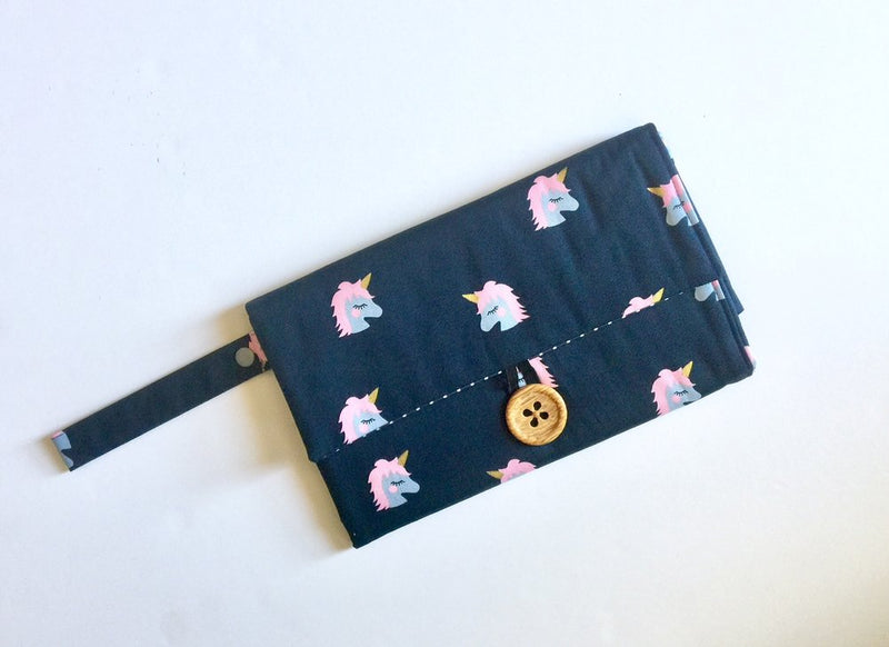 Nappy Wallet with Mat - Unicorns