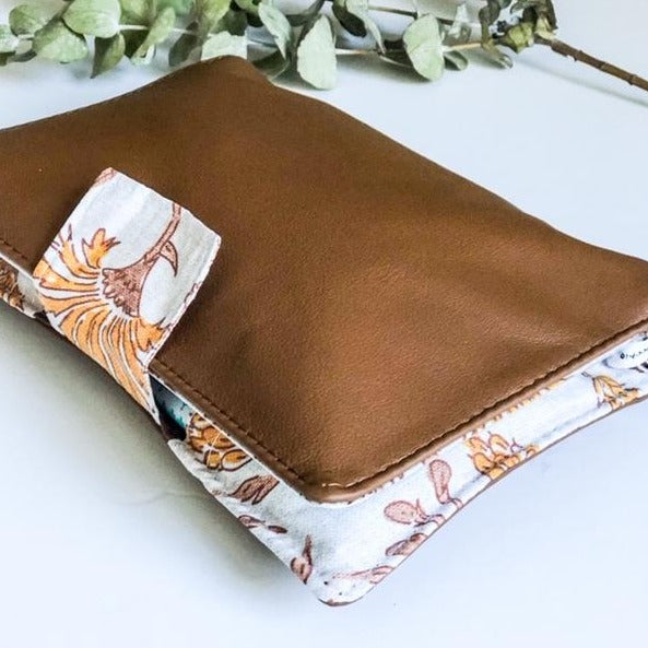 Deluxe Leather Nappy Wallet - Kalami Florals