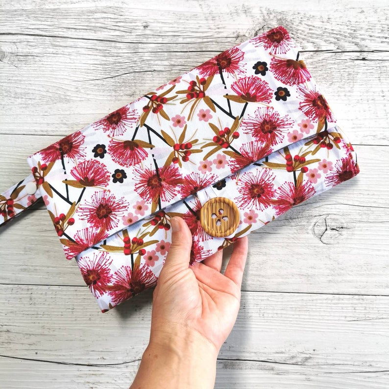 Nappy Wallet with Mat - Native Flowers