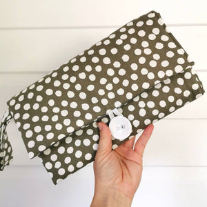 Nappy Wallet with Mat - Sage Spots