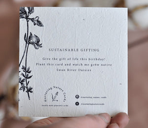 Plantable Gift Card - Flora Happy Birthday