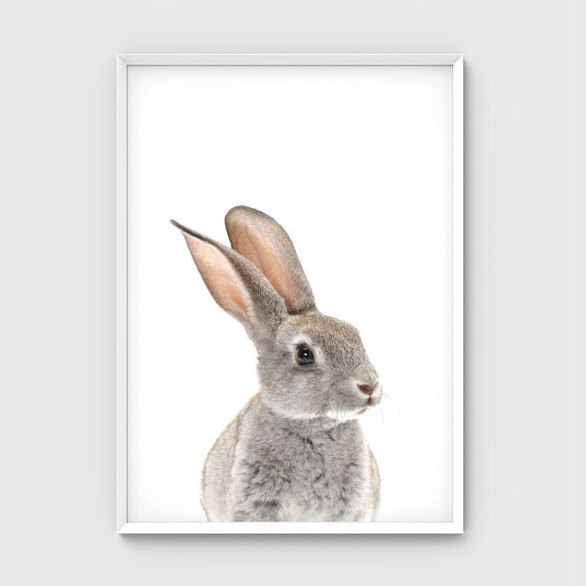 Print -  Grey Bunny Friend