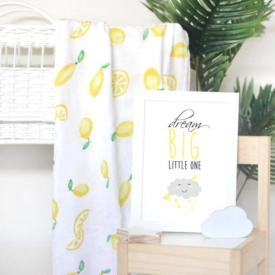 A3 Print -  Dream Big Little One Yellow