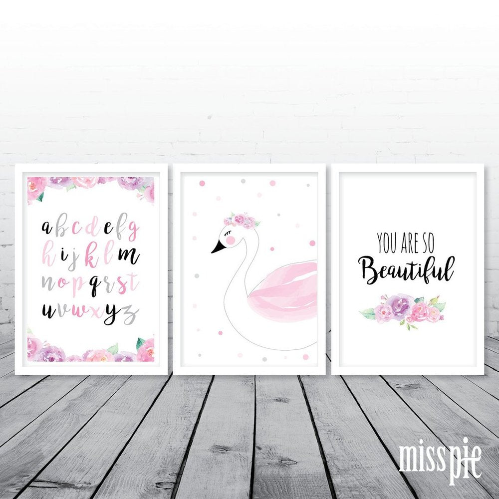 A3 Print Trio - You Are So Beautiful Swan