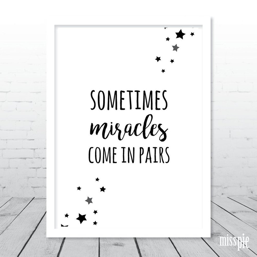 A3 Print - Sometimes Miracles Come in Pairs - Stars
