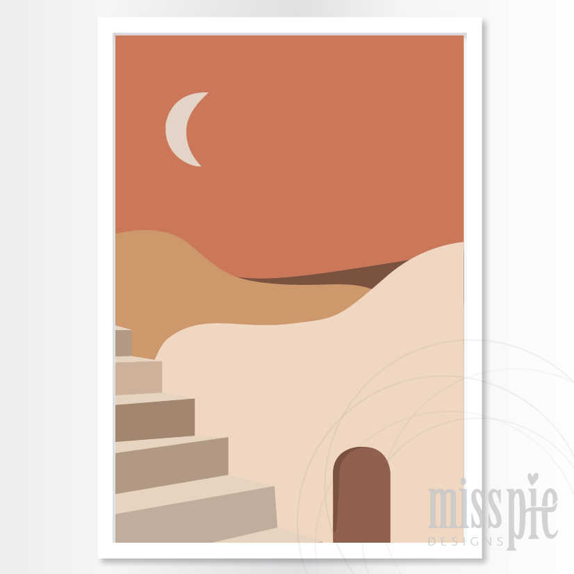 Print - Desert Dreams - Moon