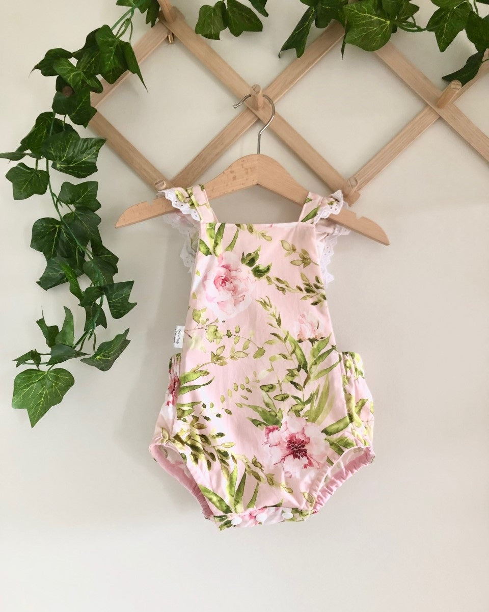 Girls Summer Romper - Pretty Florals (ONLY SIZE 0000 LEFT)