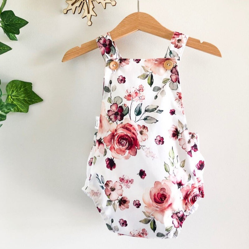 Christmas Romper - Christmas Floral