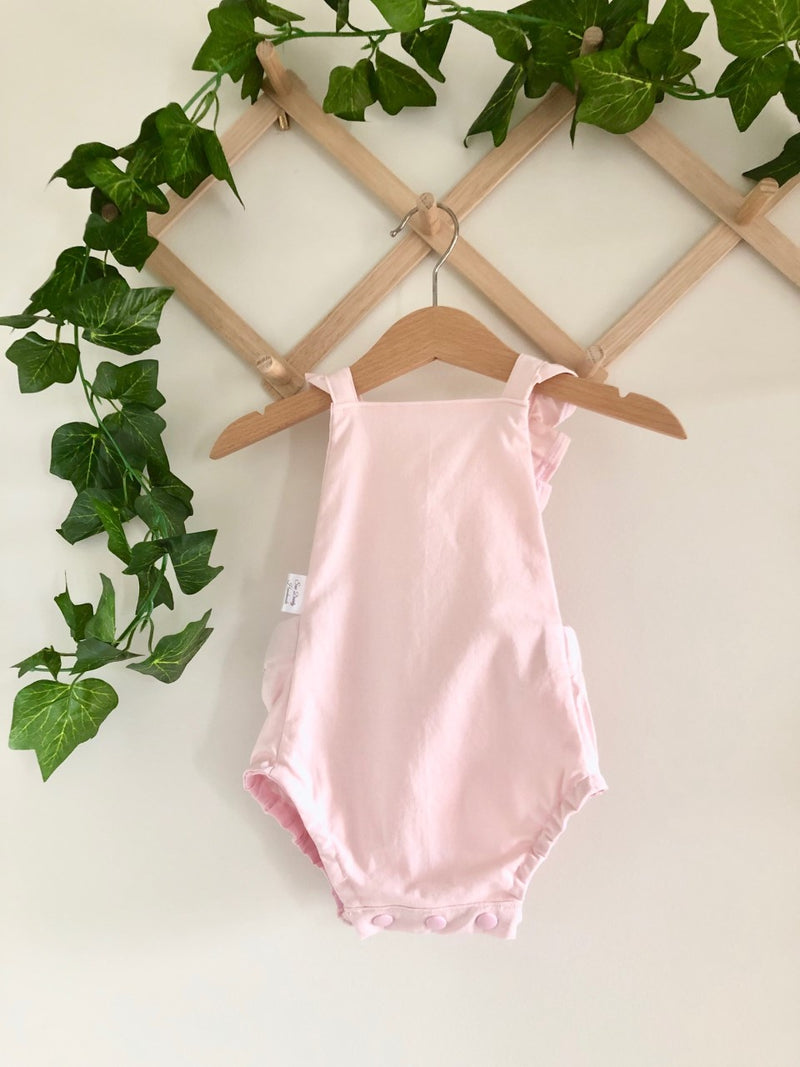 Girls Summer Romper - Baby Pink (ONLY SIZES 0000 & 00 LEFT)