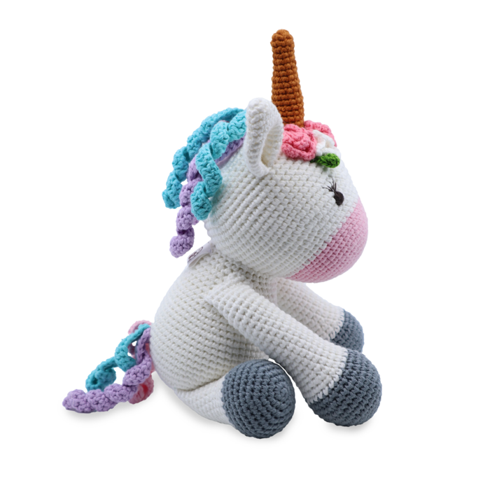 Medium Sitting Toy - Unicorn