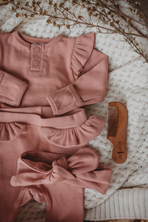 Topknot Ribbed - Rose