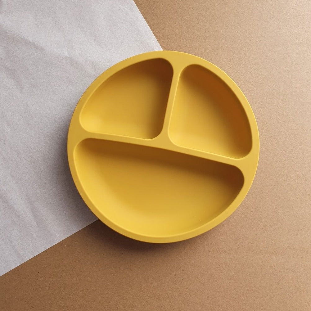 Silicone Divided Plate - Mustard