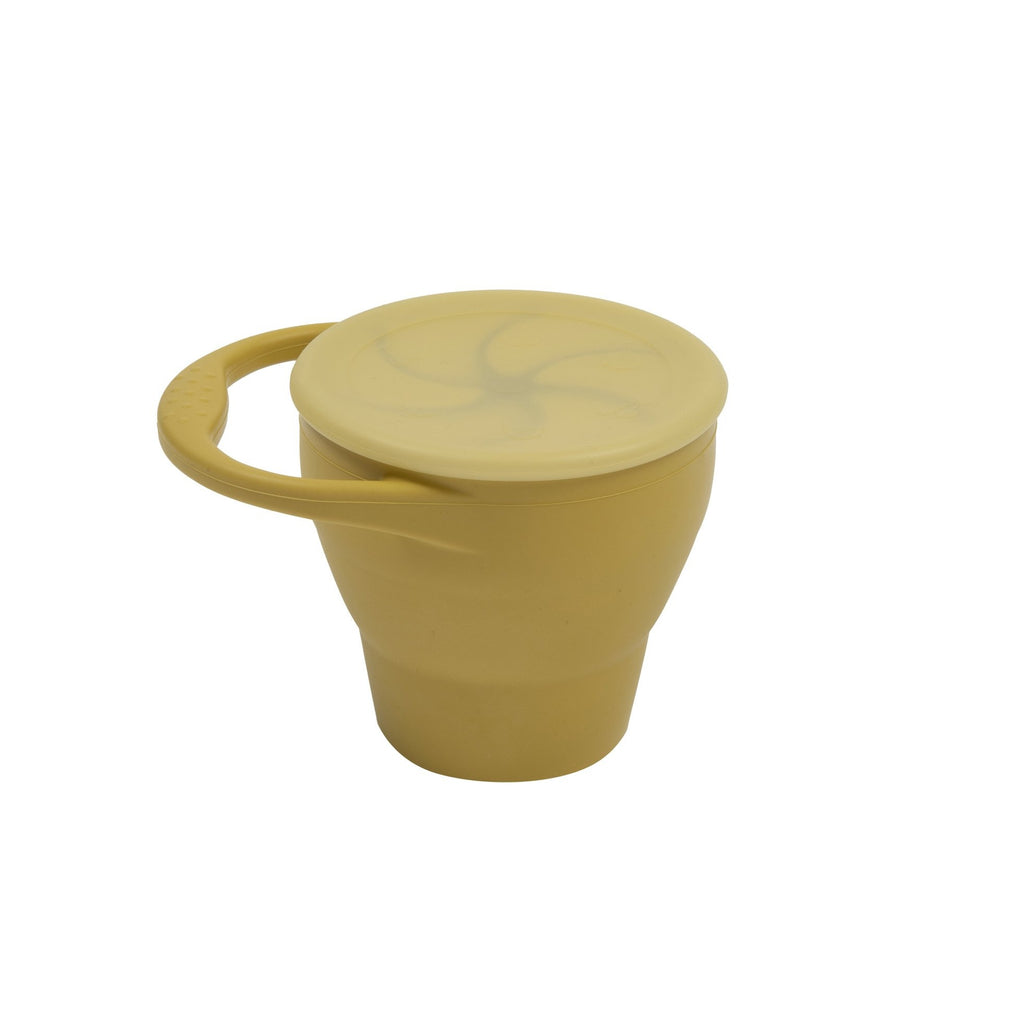 Expandable Silicone Snack Cup - Mustard