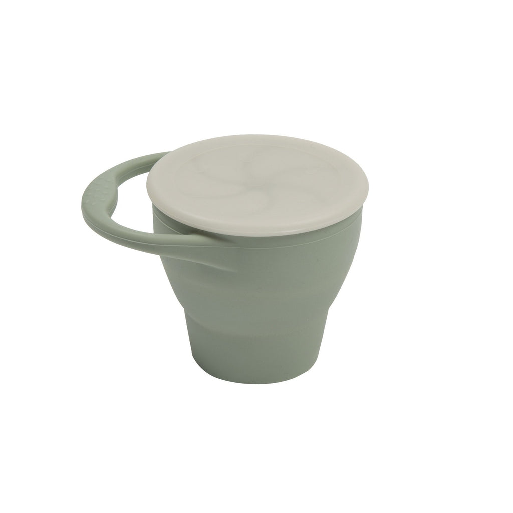 Expandable Silicone Snack Cup - Sage