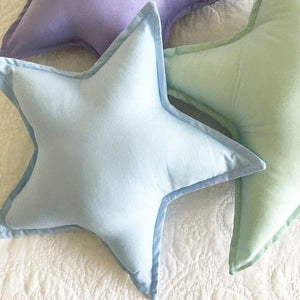 Star Pillow - Baby Blue