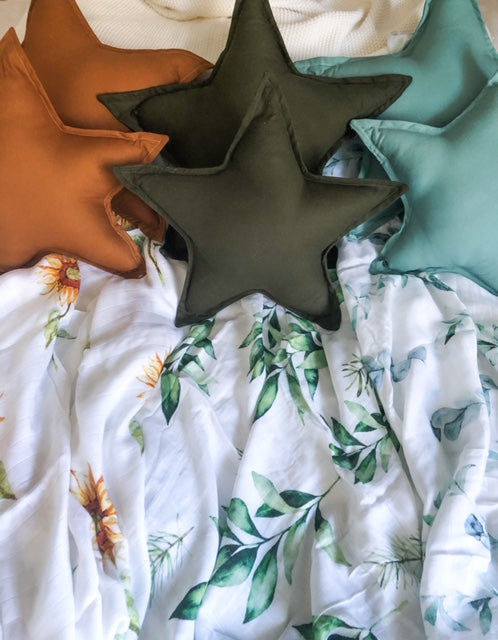 Star Pillow - Olive