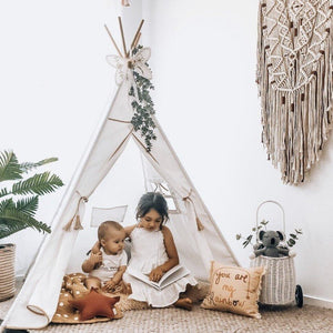 Teepee Tent - Golden Star (Leatherette)
