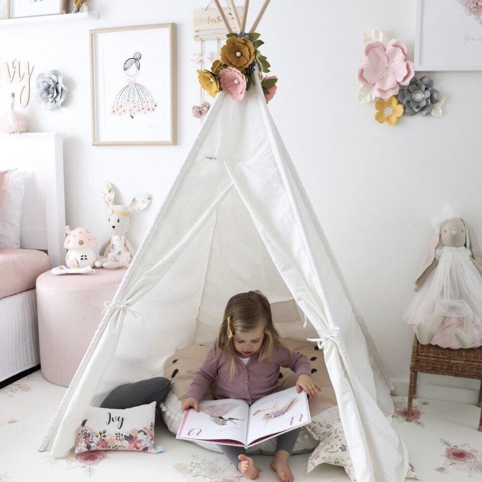 Teepee Tent - Snow Dust (White)