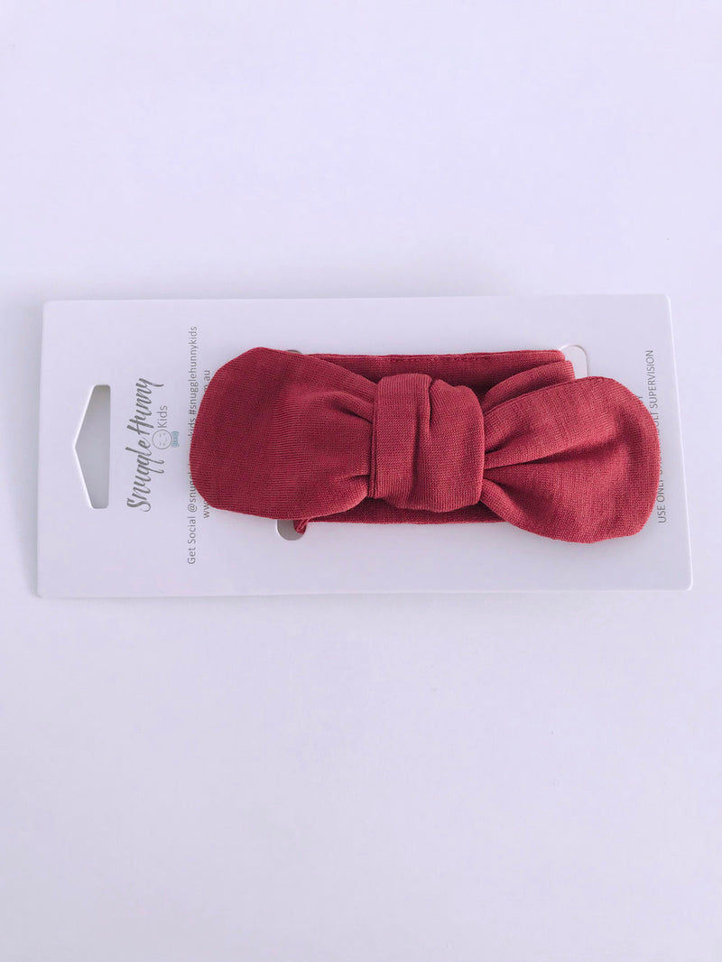 Topknot Headband - Deep Rust
