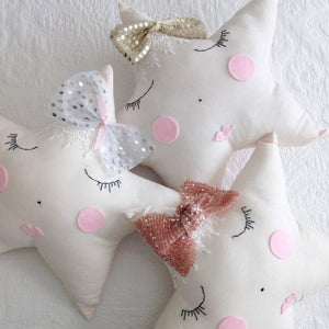 Vintage Lace Star Pillows - (4 WEEKS TURNAROUND TIME)